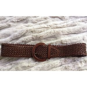 Ecoté UO Brown Thick Woven Belt